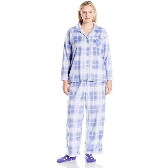 Karen Neuburger Women s Fleece Pajama Set   Socks 9d8820e17